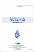 Attestation Entretien Chaudière Gaz