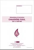Attestation Entretien Chaudière Fuel